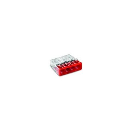 BORNE WAGO 4 x 0,5 A 2,5MM² TRANSPARENT/ROU