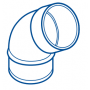COUDE PVC MALE-FEMELLE 67°30 Ø 32
