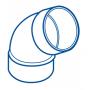 COUDE PVC FEMELLE-FEMELLE 67°30 Ø 32