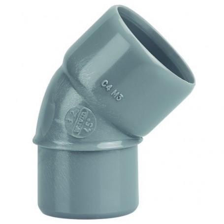 COUDE PVC MALE-FEMELLE 45° Ø 32