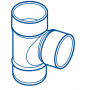 CULOTTE PVC MALE-FEMELLE 87°30 Ø 32