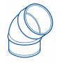 COUDE PVC MALE-FEMELLE 45° Ø 40