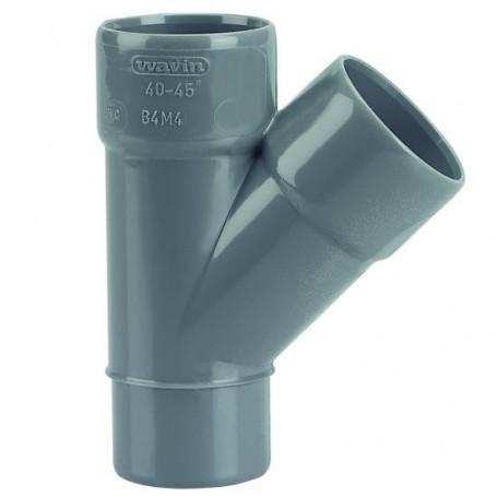 CULOTTE PVC MALE-FEMELLE 45° Ø 40