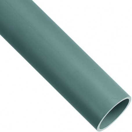 TUBE PVC Ø 50 GRIS LONGUEUR DE 2M