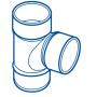 CULOTTE PVC MALE-FEMELLE 87°30 Ø 100