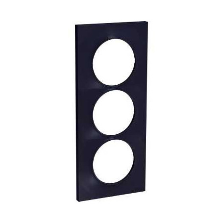 PLAQUE 3 POSTES ODACE ANTHRACITE - VERTICAL