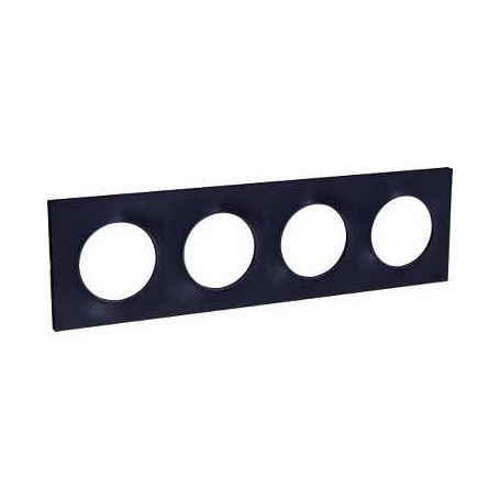 PLAQUE 4 POSTES ODACE ANTHRACITE