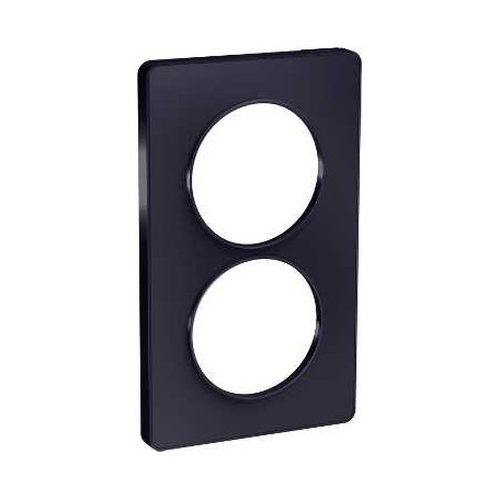 PLAQUE 2 POSTES ODACE ANTHRACITE - VERTICAL