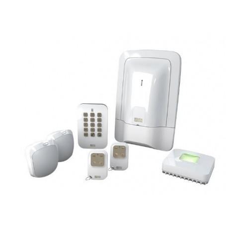 Pack alarme 2 zones sans fil avec box domotique