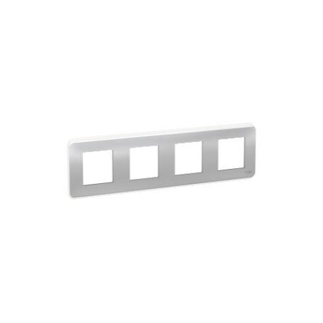 Plaque de finition - Aluminium - 4 postes - Liseré transparent