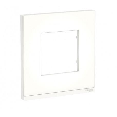 Plaque de finition - Translucide liseré blanc - 1 poste
