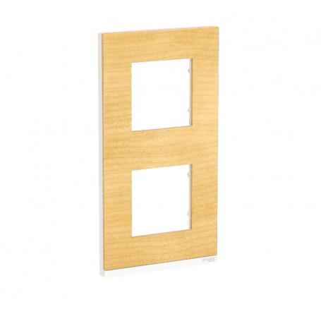Plaque de finition - Bois nordique liseré blanc - 2 postes verticaux