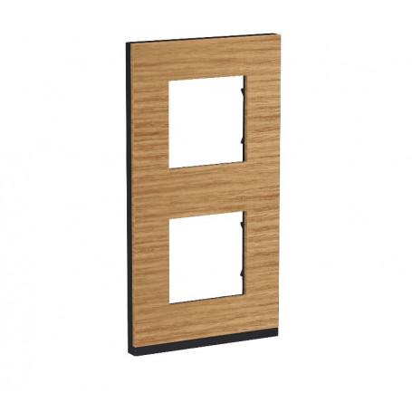 Plaque de finition - Chêne liseré anthracite - 2 postes verticaux