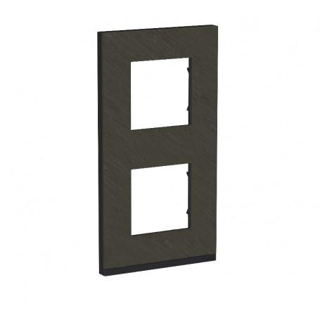 Plaque de finition - Ardoise liseré anthracite - 2 postes verticaux