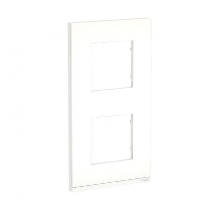 Plaque de finition - Translucide liseré blanc - 2 postes verticaux