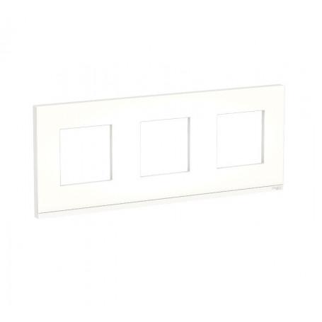 Plaque de finition - Translucide liseré anthracite - 3 postes