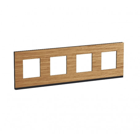 Plaque de finition - Chêne liseré anthracite - 4 postes