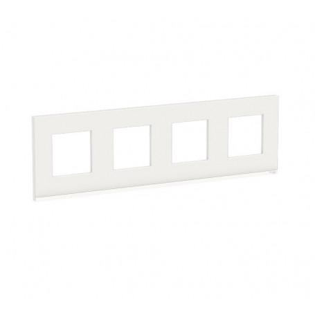 Plaque de finition - Givre blanc liseré blanc - 4 postes