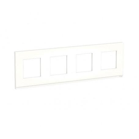 Plaque de finition - Translucide liseré blanc - 4 postes