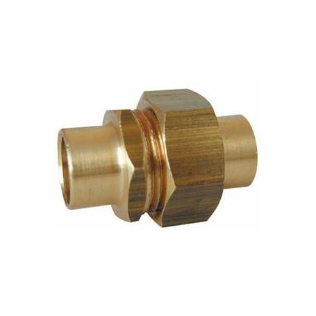 """Union droit à souder cuivre - Diamètre 32 mm / M1""""1/4"""