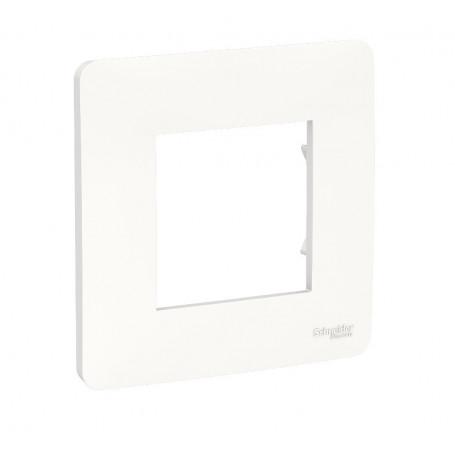 Plaque de finition - Blanc - 1 poste