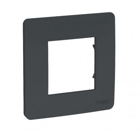 Plaque de finition - Anthracite - 1 poste