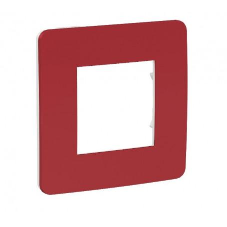 Plaque de finition - Rouge carnidnal - Liseré blanc - 1 poste