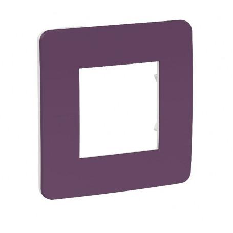 Plaque de finition - prune - Liseré blanc - 1 poste