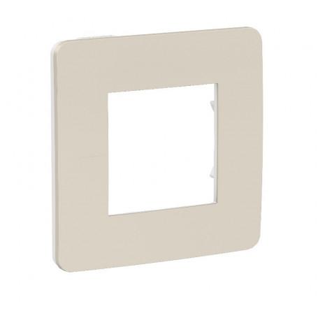 Plaque de finition - gris pierre - Liseré blanc - 1 poste