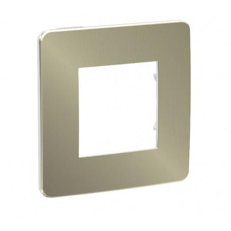 Plaque de finition - bronze - Liseré blanc - 1 poste