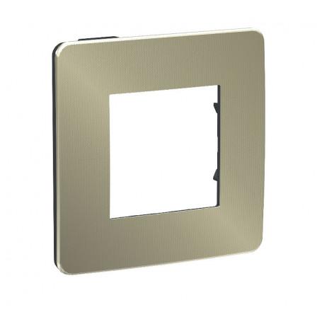 Plaque de finition - bronze - Liseré anthracite - 1 poste