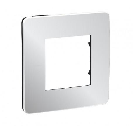 Plaque de finition - Aluminium - Liseré anthracite - 1 poste