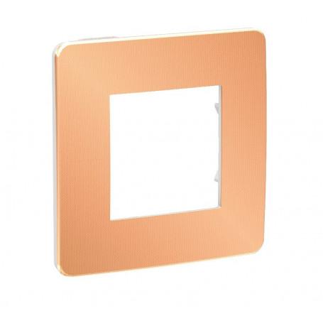 Plaque de finition - cuivre - Liseré blanc - 1 poste
