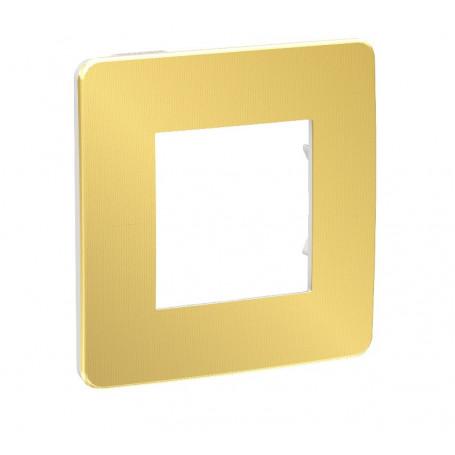Plaque de finition - or - Liseré blanc - 1 poste