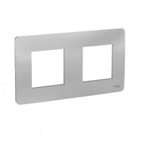 Plaque de finition - aluminium - 2 postes