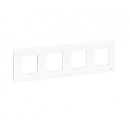 Plaque de finition - Blanc - 4 postes
