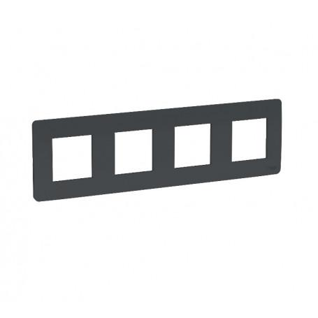 Plaque de finition - Anthracite - 4 postes