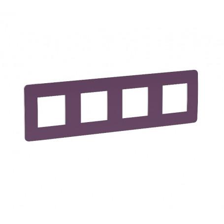 Plaque de finition - prune - 4 postes