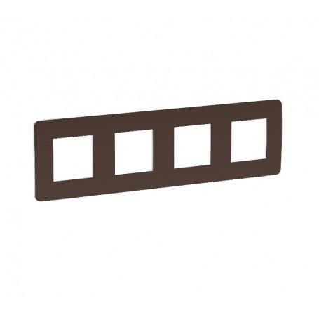 Plaque de finition - chocolat liseré blanc - 4 postes