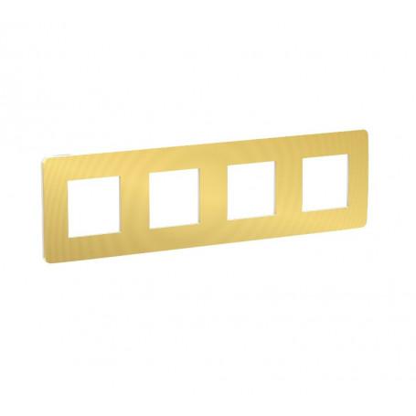 Plaque de finition - or liseré Blanc - 4 postes