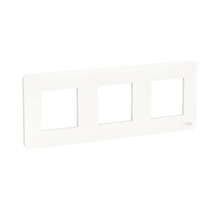 Plaque de finition - Blanc - 3 postes