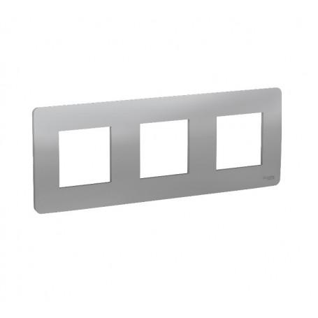 Plaque de finition - aluminium - 3 postes