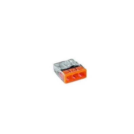 BORNE WAGO 3 x 0,5 A 2,5MM² TRANSPARENT/ORA